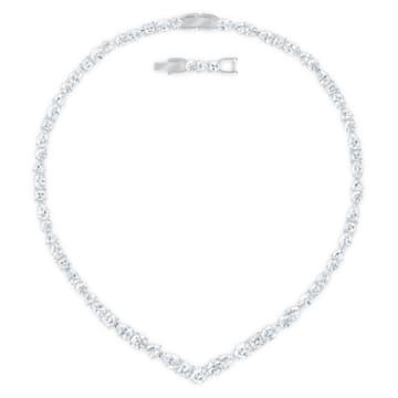 Parure Tennis Deluxe V, Cristaux taille mixte, Blanc, Métal rhodié - Swarovski, 5575495
