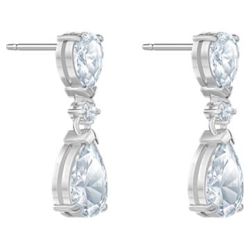 Palace bedugós, függő fülbevaló, fehér színű, ródium bevonattal - Swarovski, 5576616