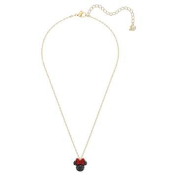 Minnie Pendant, Black, Gold-tone plated - Swarovski, 5576625