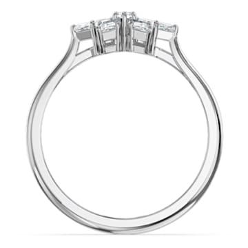 Magic-ring, Wit, Rodium-verguld - Swarovski, 5576696