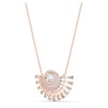 Swarovski Sparkling Dance Dial Up Колье, M, Серый Кристалл, Покрытие оттенка розового золота - Swarovski, 5578116