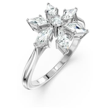 Magic-ring, Wit, Rodium-verguld - Swarovski, 5578445