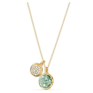 Zestaw Tahlia, zielony, powłoka w odcieniu złota - Swarovski, 5579789