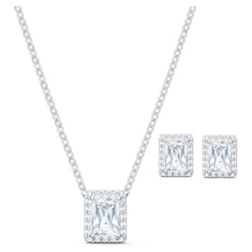 Angelic 套装, 白色, 镀铑 - Swarovski, 5579842