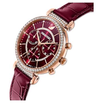 Orologio Passage Chrono, cinturino in pelle, rosso, PVD oro rosa - Swarovski, 5580345