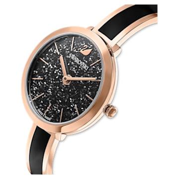 Orologio Crystalline Delight, bracciale di metallo, nero, PVD oro rosa - Swarovski, 5580530