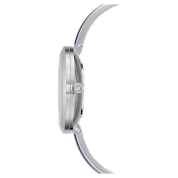 Crystalline Delight Watch , Metal bracelet, Blue, Stainless steel - Swarovski, 5580533