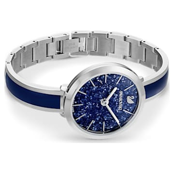 Crystalline Delight Watch, Metal Bracelet, Blue, Stainless Steel - Swarovski, 5580533