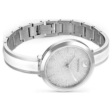 Crystalline Delight Watch, Metal Bracelet, White, Stainless Steel - Swarovski, 5580537
