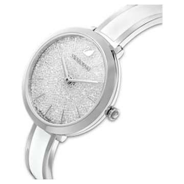 Montre Crystalline Delight, bracelet en métal, blanc, acier inoxydable - Swarovski, 5580537