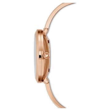 Crystalline Delight 腕表, 金属手链, 白色, 玫瑰金色调 PVD - Swarovski, 5580541