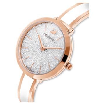 Ceas Crystalline Delight, Alb, PVD cu nuanță roz-aurie - Swarovski, 5580541