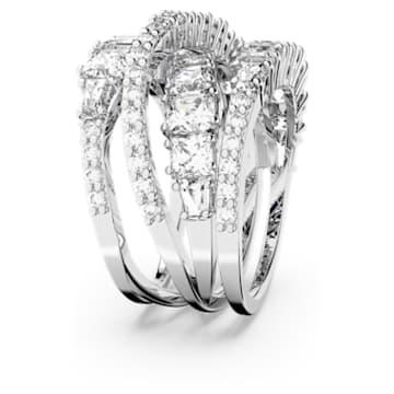 Twist Wrap Ring, weiss, rhodiniert - Swarovski, 5580952