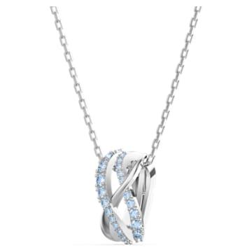 Pendentif Twist Rows, bleu, métal rhodié - Swarovski, 5582806
