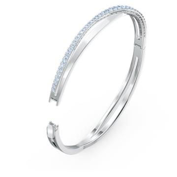 Twist Rows Armband, blau, rhodiniert - Swarovski, 5582810