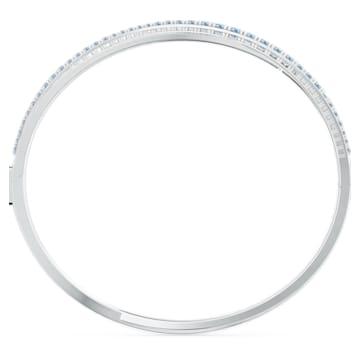Twist-rijenarmband, Blauw, Rodium-verguld - Swarovski, 5584648