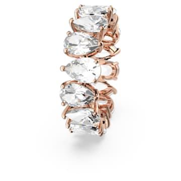 Anello Vittore Pear, bianco, placcato color oro rosa - Swarovski, 5585425