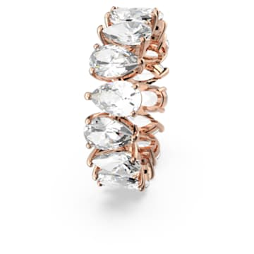Vittore Pear Ring, White, Rose-gold tone plated - Swarovski, 5586164