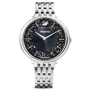 Crystalline Chic Uhr, Metallarmband, schwarz, Edelstahl - Swarovski, 5587527