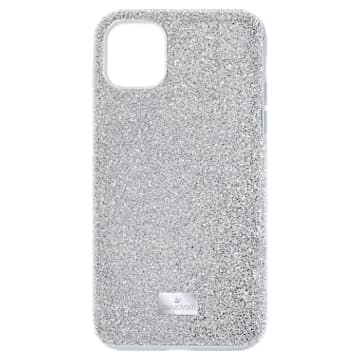 High Smartphone case, iPhone® 11, Silver tone - Swarovski, 5592030