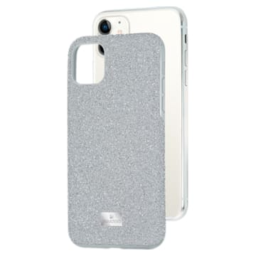 High smartphone case , iPhone® 11, Silver Tone - Swarovski, 5592030