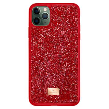 Étui pour smartphone Glam Rock, iPhone® 12 mini, rouge - Swarovski, 5592044