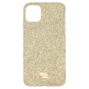 High smartphone case , iPhone® 12 mini, Gold tone - Swarovski, 5592046