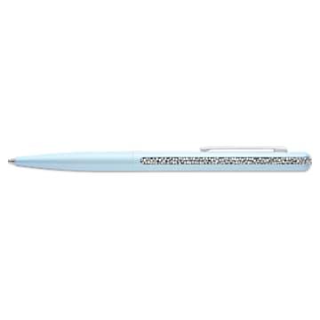 Crystal Shimmer Ballpoint Pen, Light Blue, Chromed plated - Swarovski, 5595669