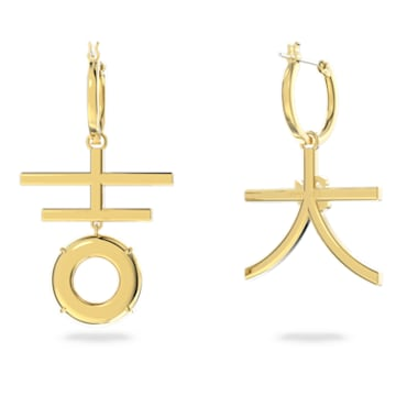 Flower of Fortune Pierced Earrings, Multicolor, Gold-tone plated - Swarovski, 5597668