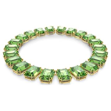 Colar Millenia, Cristais de corte octógono, Verde, Lacado a dourado - Swarovski, 5598261