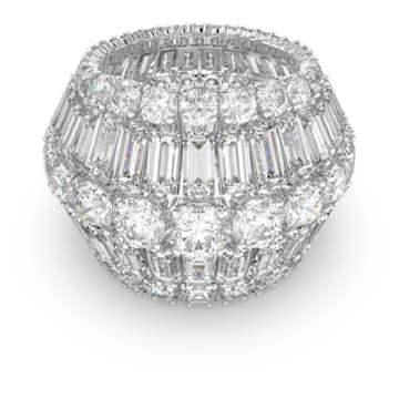 Hyperbola 个性戒指, 白色, 镀铑 - Swarovski, 5598341