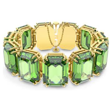 Bracelet Millenia, Cristaux octogonaux, Vert, Métal doré - Swarovski, 5598347