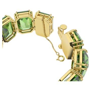 Millenia Armband, Kristalle mit Oktagon-Schliff, Grün, Goldlegierung - Swarovski, 5598347