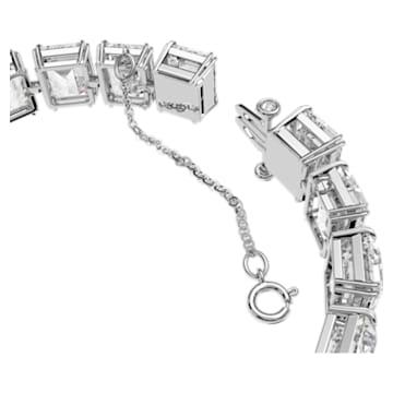 Pulsera Millenia, Cristales pequeños de talla octogonal, Blanco, Baño de rodio - Swarovski, 5598349