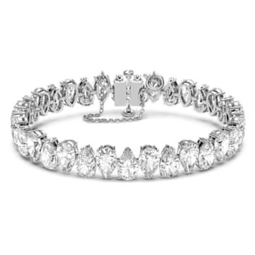Millenia 手链, 梨形切割 Swarovski 皓石, 白色, 镀铑 - Swarovski, 5598350