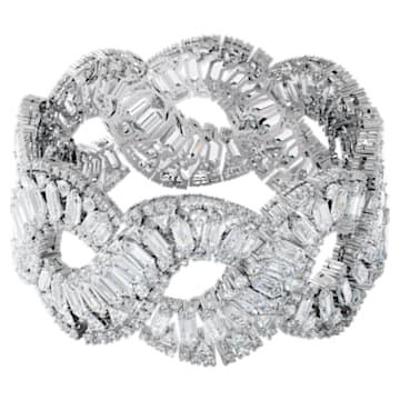 Hyperbola bracelet, White, Rhodium plated - Swarovski, 5598351
