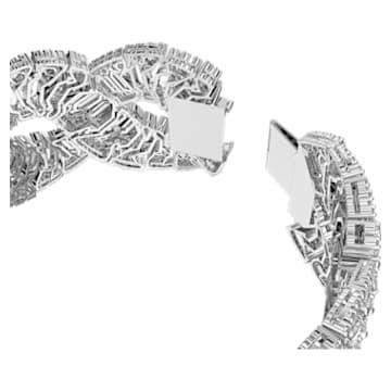 Hyperbola Armband, Wellenförmig, Weiss, Rhodiniert - Swarovski, 5598351
