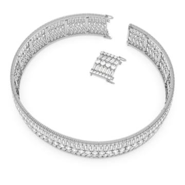 Gargantilha Hyperbola, Branco, Lacado a ródio - Swarovski, 5598360