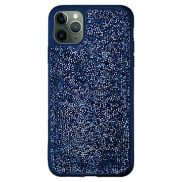 Coque rigide pour smartphone avec cadre amortisseur Glam Rock, iPhone® 11 Pro, bleu - Swarovski, 5599134