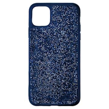 Coque rigide pour smartphone avec cadre amortisseur Glam Rock, iPhone® 11 Pro Max, bleu - Swarovski, 5599136