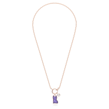 Chinese Zodiac 項鏈, 紫色, 鍍玫瑰金色調 - Swarovski, 5599139
