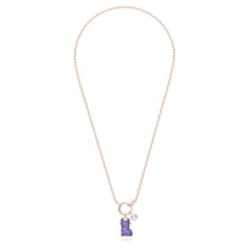 Chinese Zodiac necklace, Purple, Rose gold-tone plated - Swarovski, 5599139