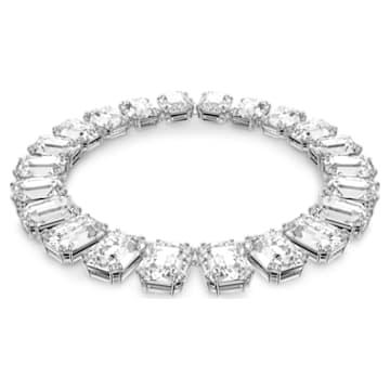 Collana Millenia, Cristalli taglio octagon, Bianco, Placcato rodio - Swarovski, 5599149