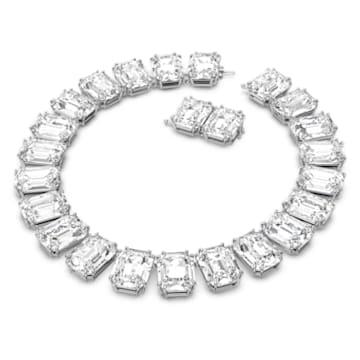 Naszyjnik Millenia, Kryształy w szlifie ośmiokątnym, Biały, Powłoka z rodu - Swarovski, 5599149