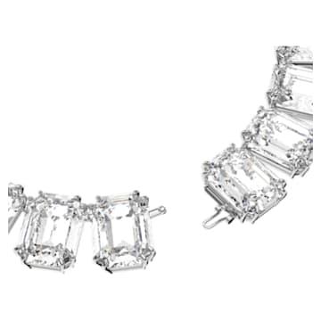 Millenia Halskette, Kristall im Octagon-Schliff, Weiss, Rhodiniert - Swarovski, 5599149