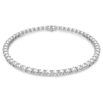 Collar Millenia, Circonita Swarovski y cristal de talla cuadrada, Blanco, Baño de rodio - Swarovski, 5599153