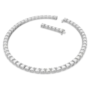 Millenia ketting, Swarovski Zirkonia en kristal met Square-slijpvorm, Wit, Rodium toplaag - Swarovski, 5599153