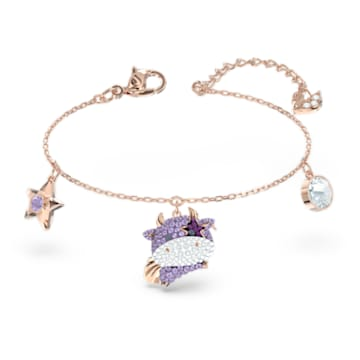 Little 手链, 紫罗兰, 镀玫瑰金色调 - Swarovski, 5599156