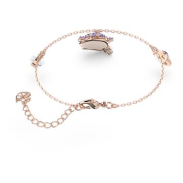 Little bracelet, Ox, Purple, Rose-gold tone plated - Swarovski, 5599156