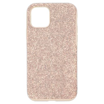 High Smartphone Case with Bumper, iPhone® 12/12 Pro, Pink - Swarovski, 5599157